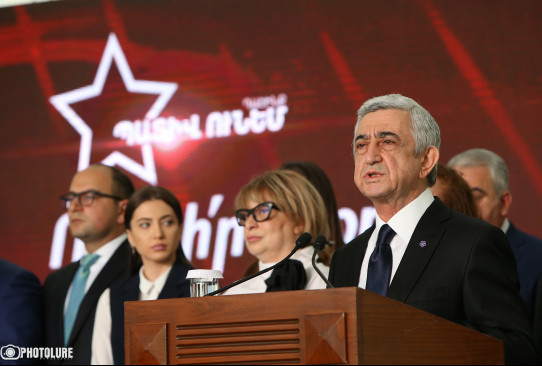 Serzh Sargsyan: It is a matter of honor for us to oust capitulators