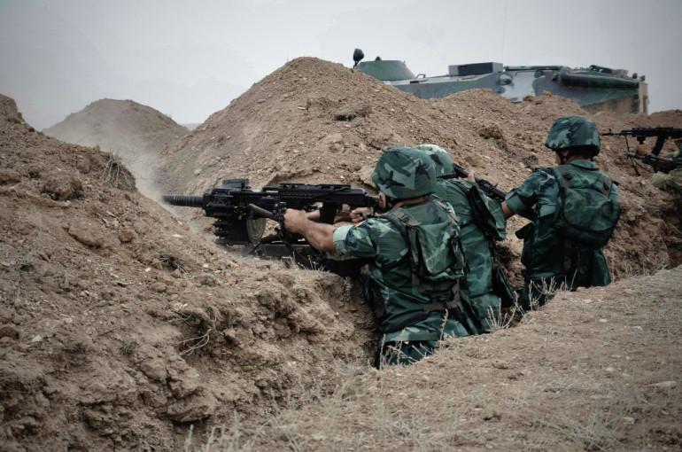 Մարտական դիրքերից մեկի ուղղությամբ ադրբեջանական զինուժը կիրառել է հաստոցավոր ավտոմատ նռնականետ (2 արկ)
