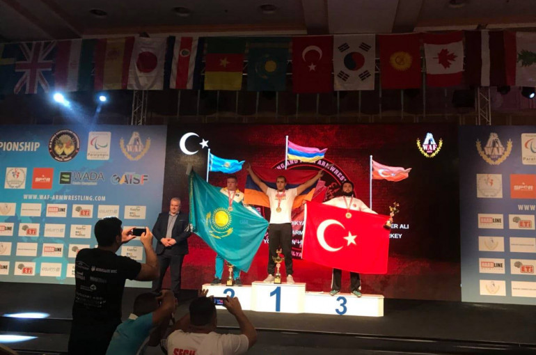 Armenian arm wrestling athlete named world champion in