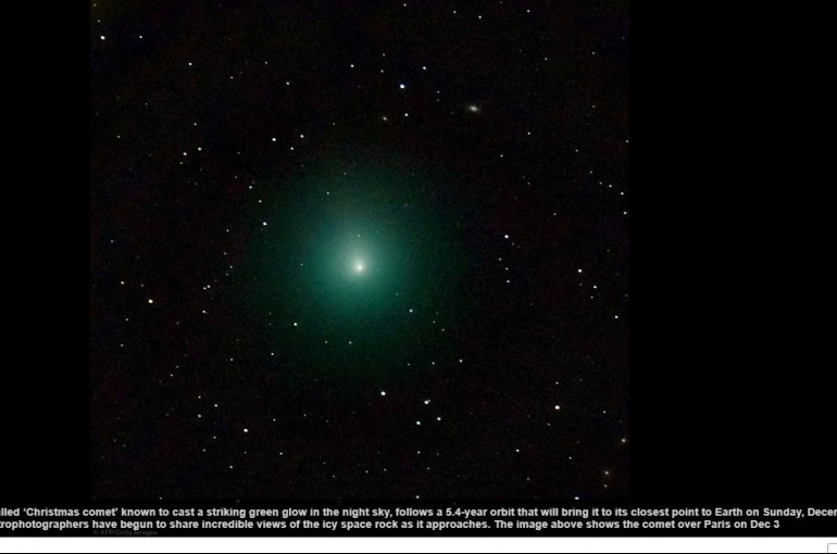 Christmas Comet.How To See The Christmas Comet Stunning Photos Show Green