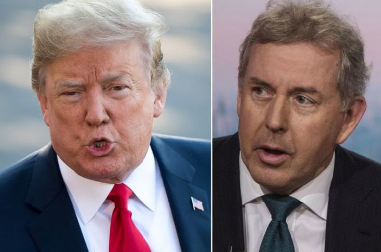 Trump says US 'will no longer deal with' UK ambassador who