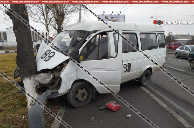Թիվ 99 երթուղին սպասարկող «Գազելը» վթարի է ենթարկվել. վարորդը եղել է ոչ սթափ վիճակում. կան վիրավորներ
