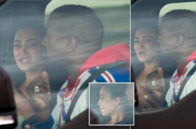 Պապարացիները  ֆիքսել են Քիմ Քարդաշյանին արտասվելիս՝ Քանյի հետ մեքենայի մեջ