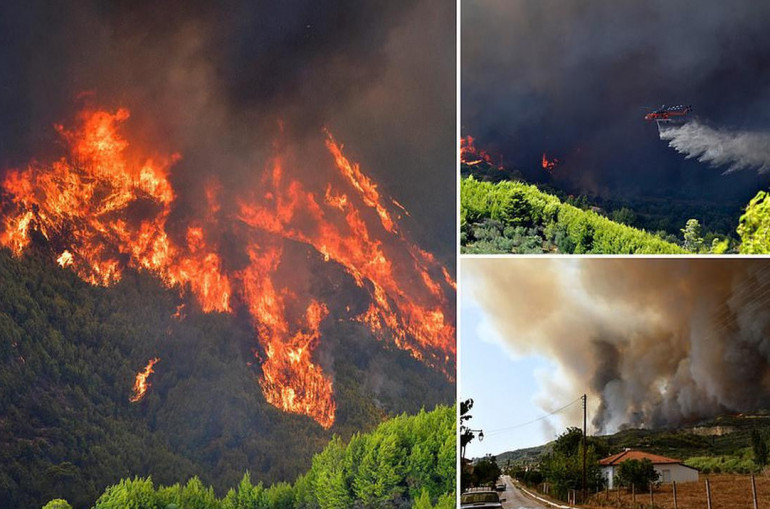 Հունաստանում կրակը շրջապատել է  վանքն ու տասնյակ գյուղեր.վանականները հրաժարվել են լքել վանքը