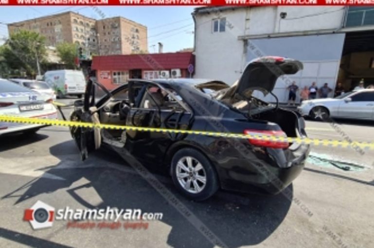 Երևանում՝ Մալաթիայի շուկայի դիմաց Toyota Camry-ում պայթյուն է տեղի ունեցել․ 5 հոգի տեղափոխվել է հիվանդանոց