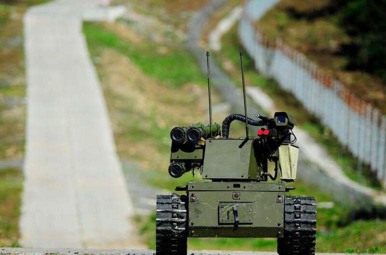 «Արևմուտք-2021» զորավարժությունների ժամանակ առաջին անգամ կիրառվել են  Платформа-М մարտական ռոբոտ սարքերը