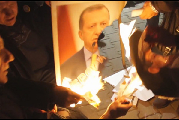 Իրաքում Էրդողանի պատկերով պաստառներ են այրել.լուսանկար