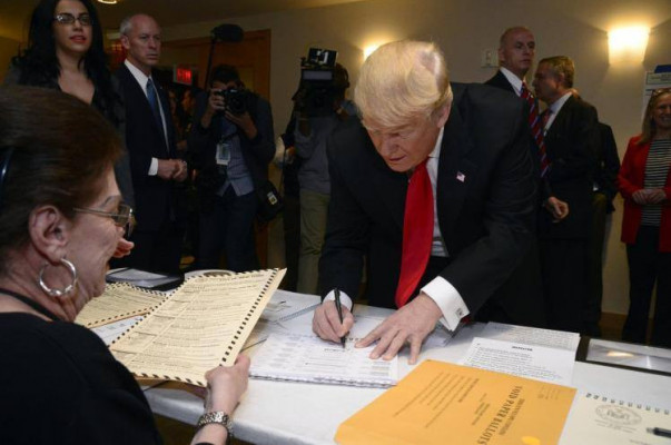 Дональд Трамп отдал собственный голос навыборах Президента США
