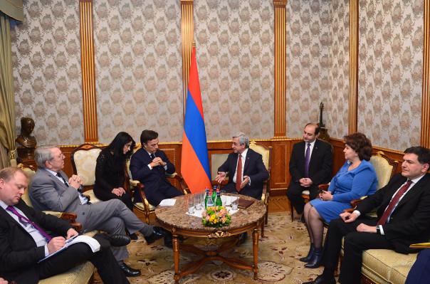 Серж Саргсяни принял содокладчиков мониторинговой комиссии ПАСЕ по задачам Армении