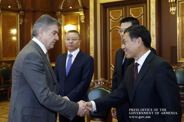 Վարչապետը Չինաստանի դեսպանի հետ քննարկել է հայ-չինական հարաբերությունների հետագա  զարգացմանն ուղղված հարցեր