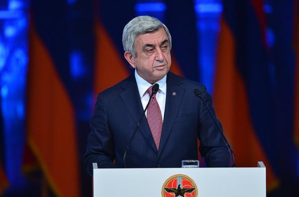 Президент Армении Саргсян переизбран главой правящей партии