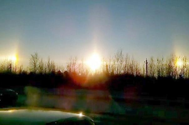Սանկտ Պետերբուրգի երկնքում «3 արև» է հայտնվել (լուսանկարներ, տեսանյութ)