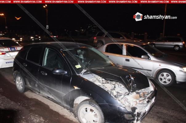 Շղթայական ավտովթար Երևանում. բախվել են BMW-ն, Renault-ն ու Ford-ը. կա 5 վիրավոր
