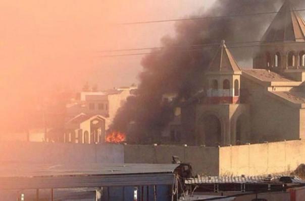 ԻՊ-ի գրոհայինները պղծել և ավերել են Մոսուլի հայկական եկեղեցին (լուսանկար)