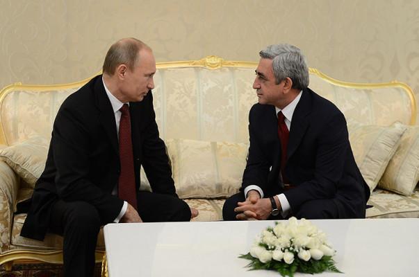 В Москве состоялась встреча президентов Армении и России