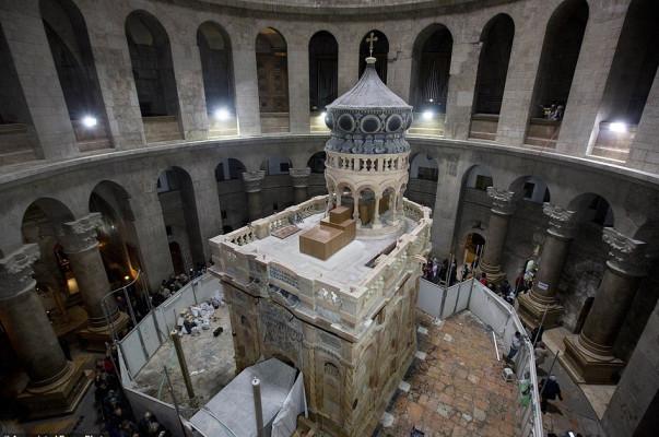 Երուսաղեմում ավարտվել են Քրիստոսի գերեզմանի վերանորոգման աշխատանքները.Ֆոտոշարք