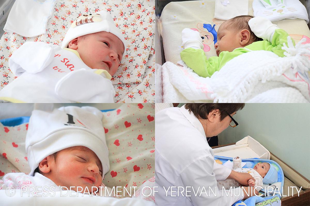С 7-го по 13-е апреля в Ереване родилось 387 детей