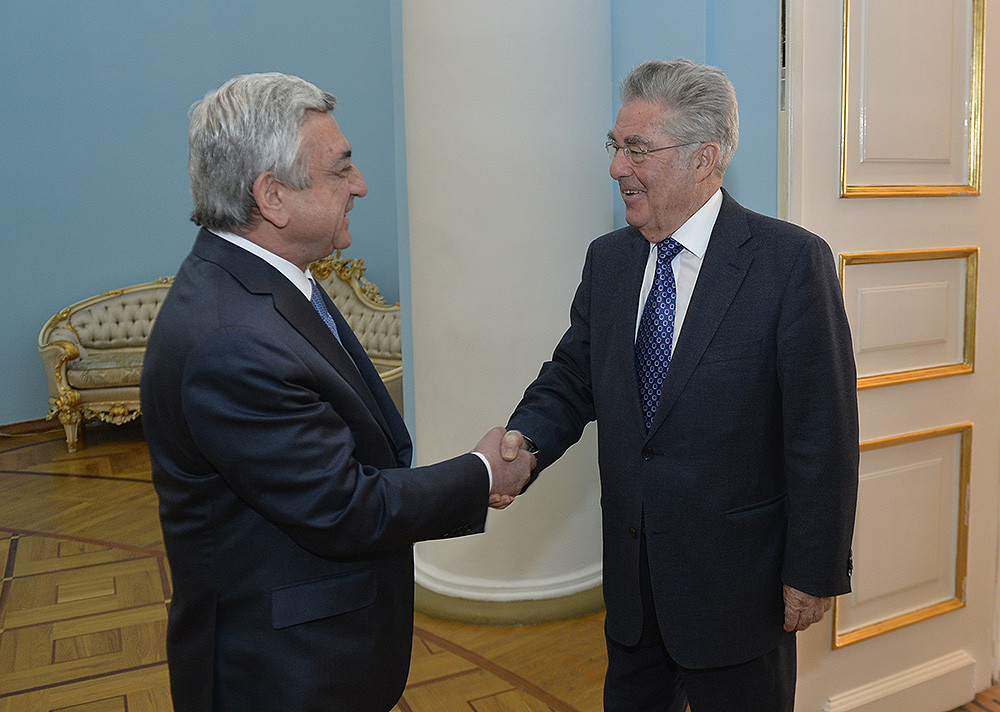 Президент Серж Саргсян принял бывшего президента Австрии Хайнца Фишера