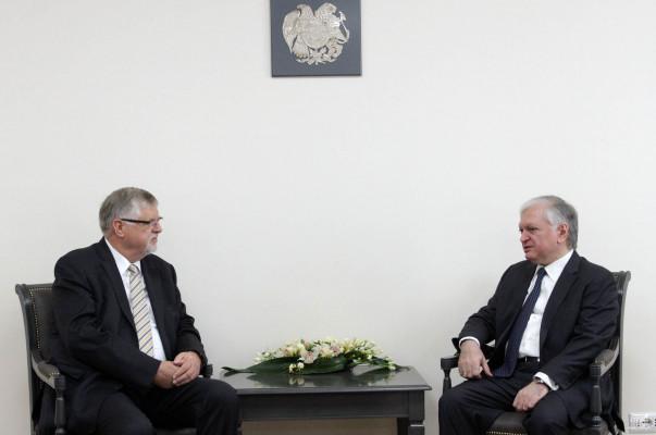 Эдвард Налбандян и спецпредставитель ЕС обсудили процесс мирного урегулирования карабахского конфликта