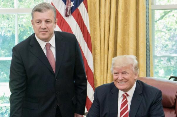 В Вашингтоне прошла встреча премьера Грузии с Трампом и Пенсом