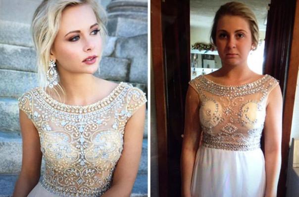 Աղջիկներ, որոնք զղջացել են ավարտական երեկոյի զգեստն առցանց պատվիրելու համար (լուսանկարներ)