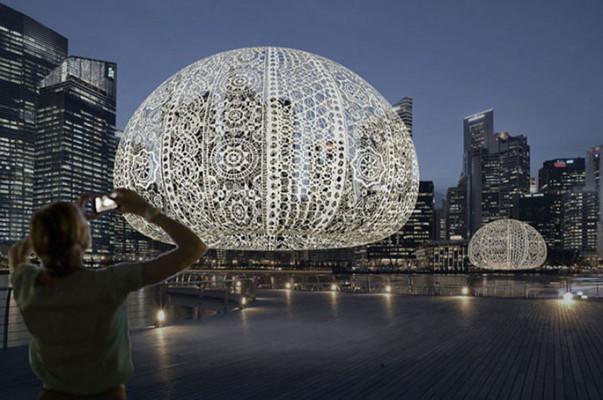 Սինգապուրի երկնաքերերի մոտ հսկայական «ծովոզնիներ» են հայտնվել (լուսանկարներ)