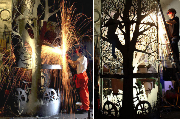 Բրիտանացի արվեստագետը հին մետաղյա առարկաները վերածում է ծառերի արձանների (լուսանկարներ)