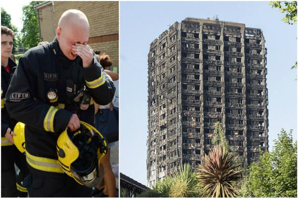 Հրշեջները չեն կարողացել զսպել հուզմունքը Լոնդոնում հրդեհված շենքը մտնելուց հետո (լուսանկարներ)