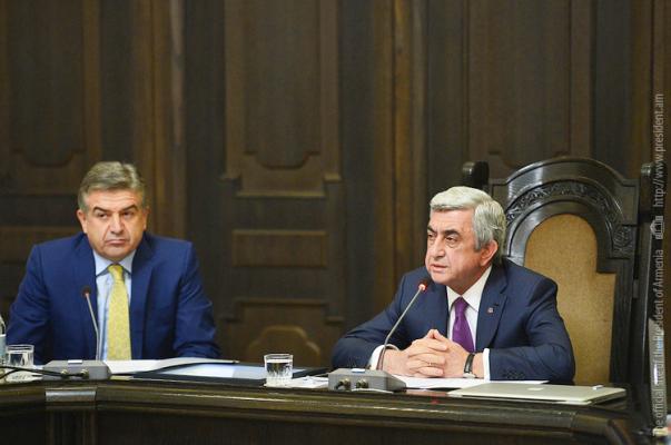 Armeniau0027s New Cabinet Enjoys High Level Political Trust U2013 Serzh Sargsyan    Armenian News   Tert.am