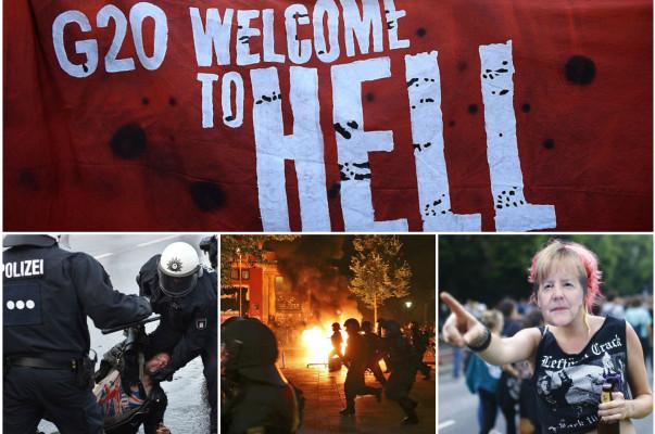 «Բարի գալուստ դժոխք».Համբուրգում G20-ին ընդառաջ ցուցարարների ու իրավապահների միջև բախումները՝ ֆոտոշարքով (նկարներ, տեսանյութ)