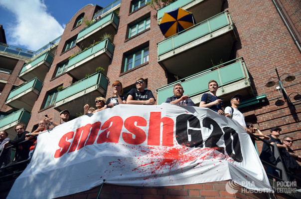 Համբուրգում G20–ի դեմ ցույցին 12 000 մարդ է մասնակցում