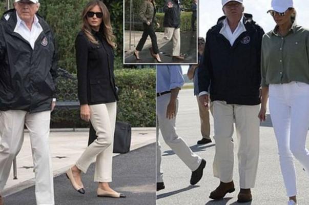 Մելանյա Թրամփը քննադատություններից հետո «Իրմա» փոթորկից տուժածներին այցելելիս մարզակոշիկներ է կրել բարձրակրունկների փոխարեն (լուսանկարներ)