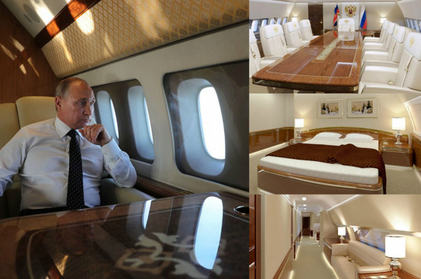 battle of jets putin 39 s lavish plane interior including gold plated toilet is revealed so